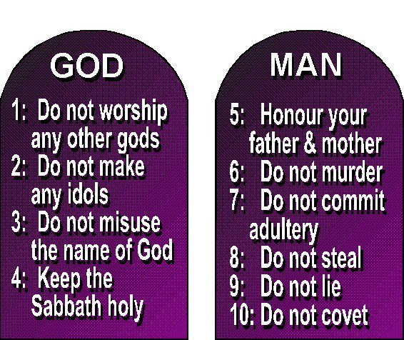 worldview ten commandments and god Ten commandments 1 worship god alone 2 have no idols 3 honor god's name 4 remember the sabbath 5 honor your father and mother  don't commit adultery 8 do not steal 9 don't lie 10 don't covet we will write a custom essay sample on christian worldview topic 6 for you for only $1390/page order now how do the first four.