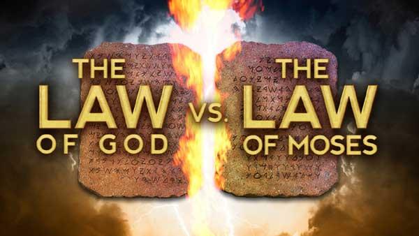 Moses Law vs  God's Ten Commandment Law