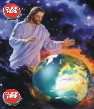 Jesus over the earth