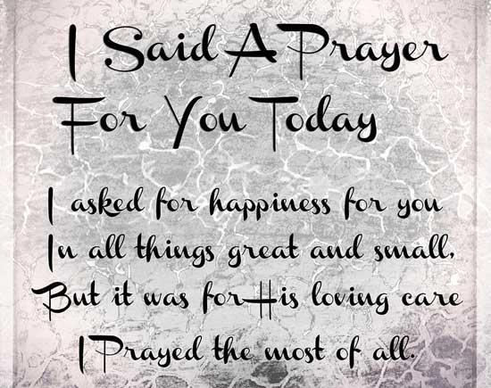 A Short Prayer For You!