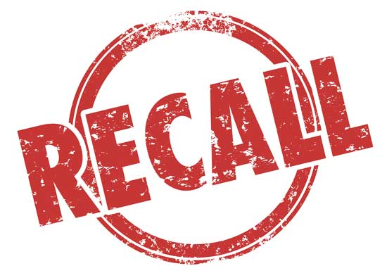 Important Recall Notice!